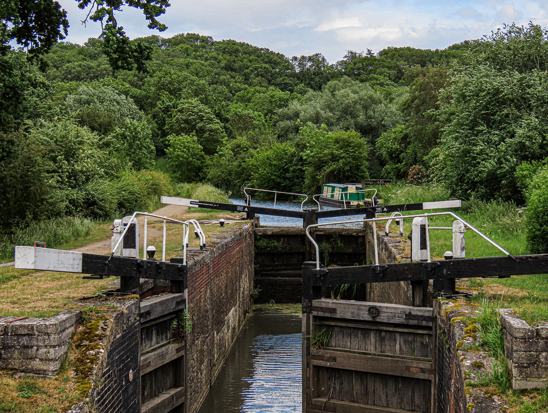 Grantham Canal - Woolsthorpe by Belvoir - Willis's Lock - Now