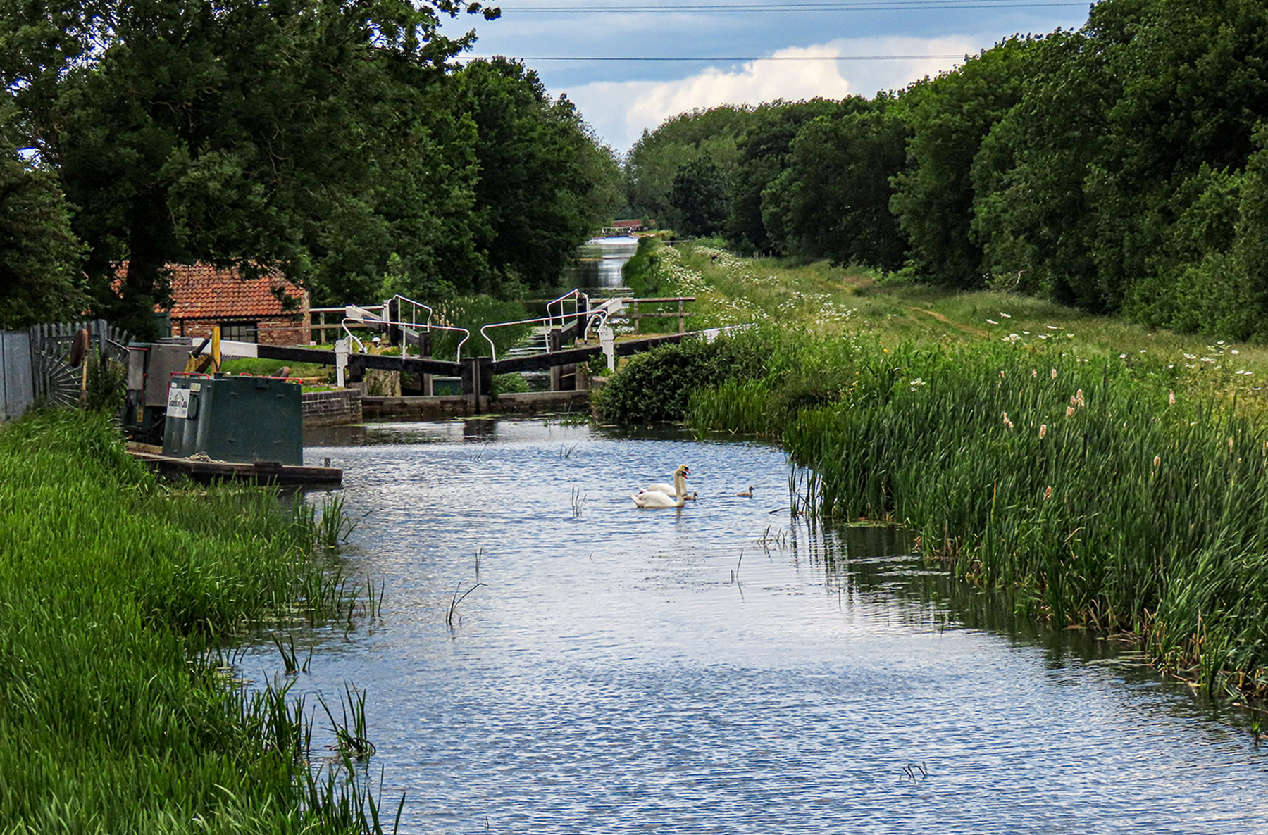 Grantham Canal - Woolsthorpe by Belvoir - Carpenter's Lock - Now